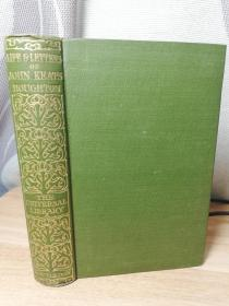LIFE AND LETTERS OF JOHN KEATS BY LORD HOUGHTON  烫金书脊  15.5X10.5CM
