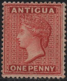 安提瓜邮票YA,1872年英国维多利亚女王,新