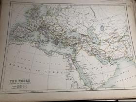 1895年 古代世界地图 45*31
