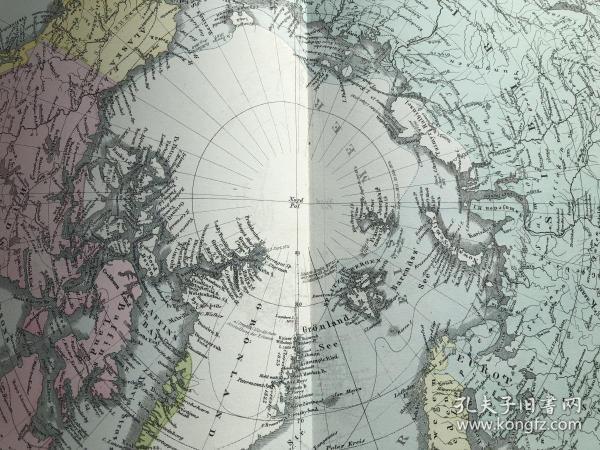 1877年北极地图