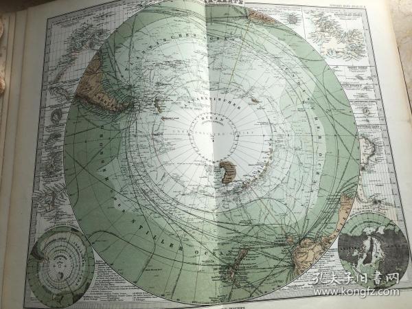 1877年南极地图
