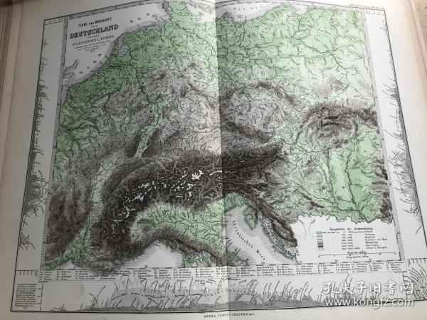 1877年 德意志帝国地形图