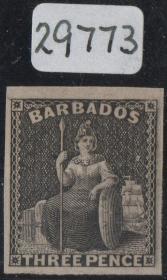 英联邦邮票C,英属巴巴多斯1882年维多利亚女王,½p,名人
