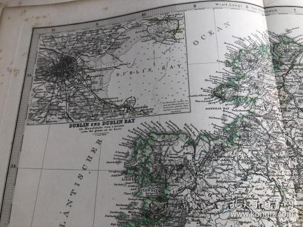 1876年爱尔兰地图