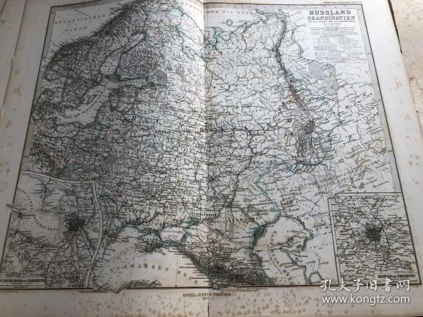 1877年 俄国欧洲部分地图