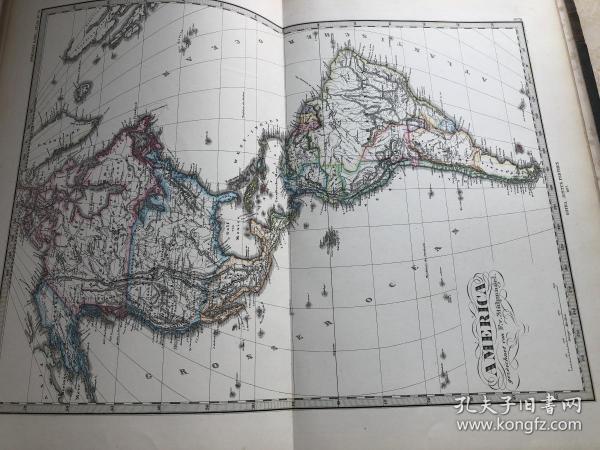 1877年美洲地图