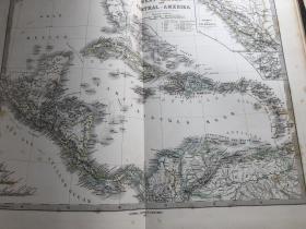 1877年 西印度群岛地图
