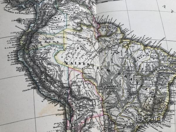 1877年南美洲地图