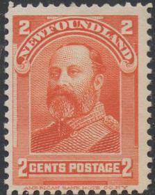 英联邦邮票A,纽芬兰1897年威尔士亲王时期的爱德华七世国王,1c