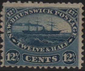 英联邦邮票C,加拿大新不伦瑞克1860年蒸汽轮船,交通工具