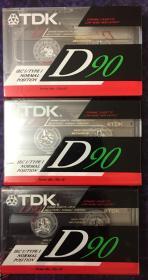 《tdk(d90)录音磁带未拆封3盘》(和库)