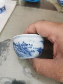 景德镇瓷4—手绘茶杯一个
