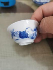 景德镇瓷6—手绘茶杯一个