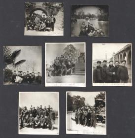 1968年,成都军工井冈山毛泽东思想宣传队在武汉合影留念老照片7张