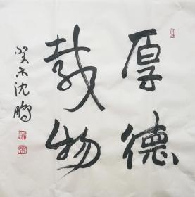 ★【顺丰包邮】【纯手绘】【沈鹏】纯手绘、四尺斗方书法(69*69cm)7买家自鉴。