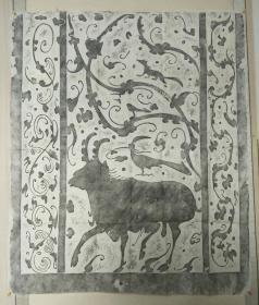 旧拓  陕北汉代画像  精品拓片, 少见博物馆里才见到