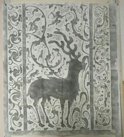 旧拓  陕北汉代画像精品拓片,少见博物馆里才见到