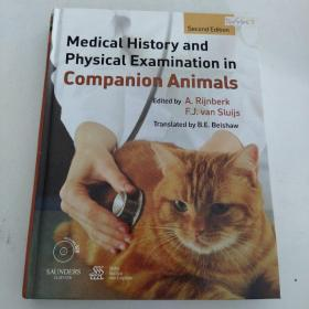 【外文原版】  Medical History and Physical Examination in Companion Animals 同伴动物的病史和体格检查
