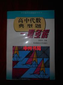 高中代数典型题一题多解(1997年一版一印 内页泛黄自然旧无勾划)