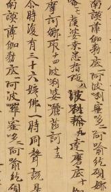 敦煌遗书 大英博物馆 S1719莫高窟 佛说无量寿经。纸本大小29*190厘米。宣纸艺术微喷复制。