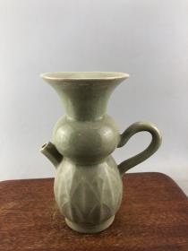 绿釉开片老瓷壶 A4051...