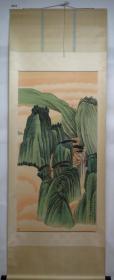 【艺林堂】 有名字画家 张大年夜千 █山川(纯手绘)█立轴  B263