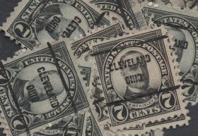美国早期预销邮票,麦金利总统,克利夫兰邮戳, 一枚