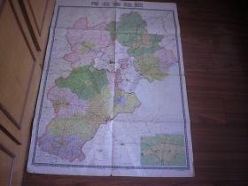 河北省地图 1985年 全开105*76厘米
