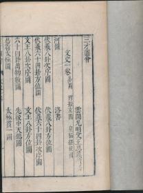 三才图会(王思义撰·明万历刻本·16开线装1册·木刻卦图等50余幅·白绵纸)