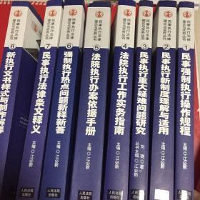 民事执行法律理论与实务丛书;民事强制执行操作规程【全8册】  【第八册有水印请看图】