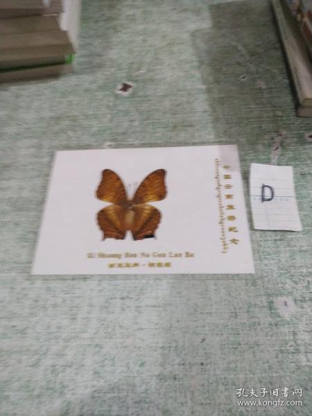 蝴蝶标本:西双版纳  橄榄坝 (带塑封护套)