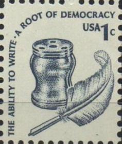 美国邮票A,1977年美国史,鹅毛笔和墨水
