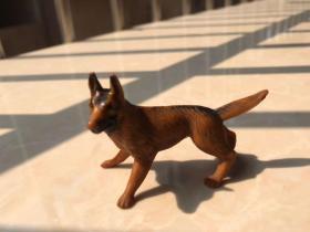 70年代 警犬狗 雕像 狼狗 老玩具