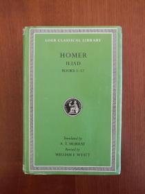 Homer: The Iliad: Volume I, Books 1-12(布面精装)(实拍书影,国内现货)