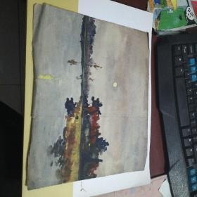 60年代 水彩 水粉 油画 13幅合售8-282