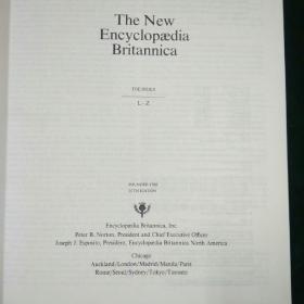 The New Encyclopaedia Britannica THE index  新不列颠百科全书