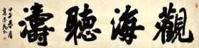 中国书法家协会会员高志民行书横幅-观海听涛