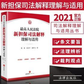 2021新版 新担保司法解释理解与适用  程啸 高圣平