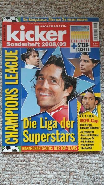 原版KICKER2008/09欧洲冠军联赛特辑