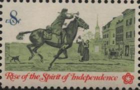 美国邮票,1973年独立200周年,殖民时期的通信,一枚价