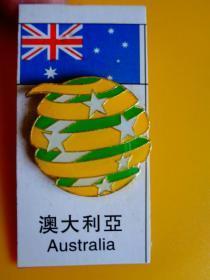 2014年 巴西世界杯足球赛徽章【澳大利亚】