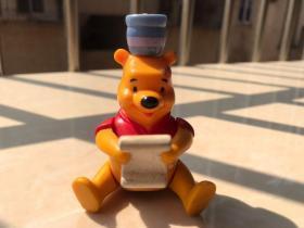 迪士尼老玩具 维尼熊 黄色 80年代