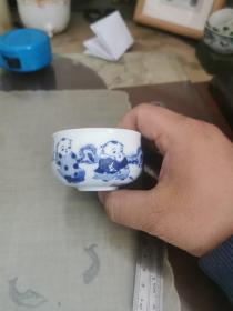 景德镇瓷17—手绘茶杯一个