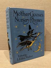 Mother Goose Nursery Rhymes(《鹅妈妈童谣》,难找的Charles Folkard插图本,布面精装,1924年新版初版,难得一见好品相)