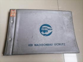 铁道部资料室流出<早期德国Tw60型行李车>黑白照片一册