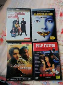 自己的收藏(真心喜欢):盒装 经典喜剧《 一条名叫旺达的鱼》朱迪·福斯特 / 安东尼·霍普金斯《沉默的羔羊》大名鼎鼎《肖申克的救赎》昆汀·塔伦蒂诺 作品 约翰·特拉沃尔塔 / 乌玛·瑟曼 《黑色追杀令/低俗小说》DVD