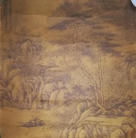 家藏清代原裱绢本山水