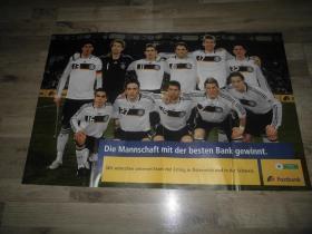 原版2008欧洲杯德国国家队超大海报