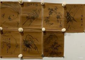 日本回流明治时期花卉小品