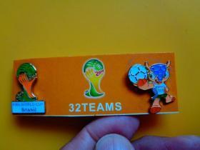 2014年 巴西世界杯足球赛徽章(32TEAMS)【共二颗】